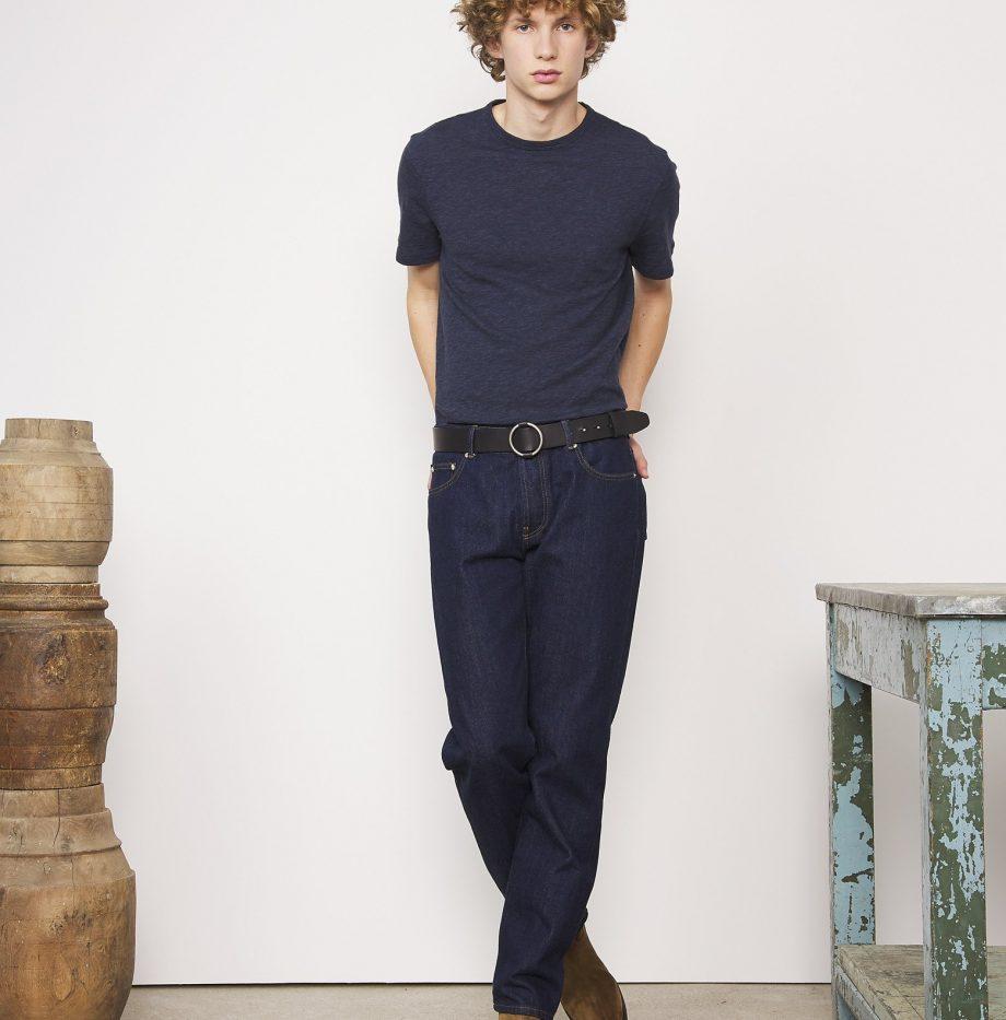 Tee-shirt Cotton Jersey Officine Générale Bleu Moyen
