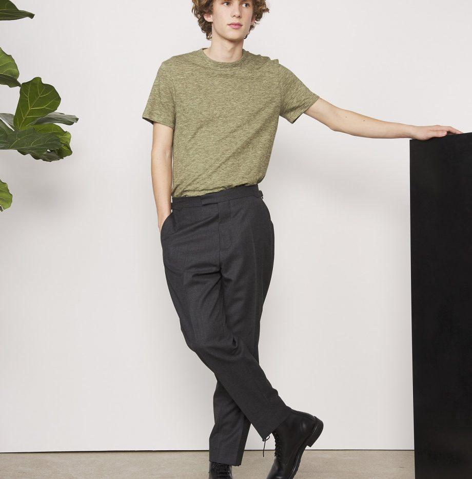 shirt_Cotton_Jersey_Officine_Générale_Olive_4