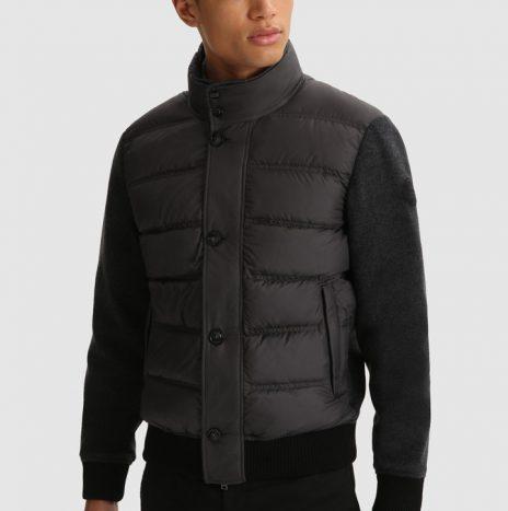 Bonded Wool Veste WoolRich Charcoal Melange