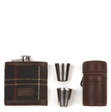 Flask Barbour Hip Flask and Cup Tartan