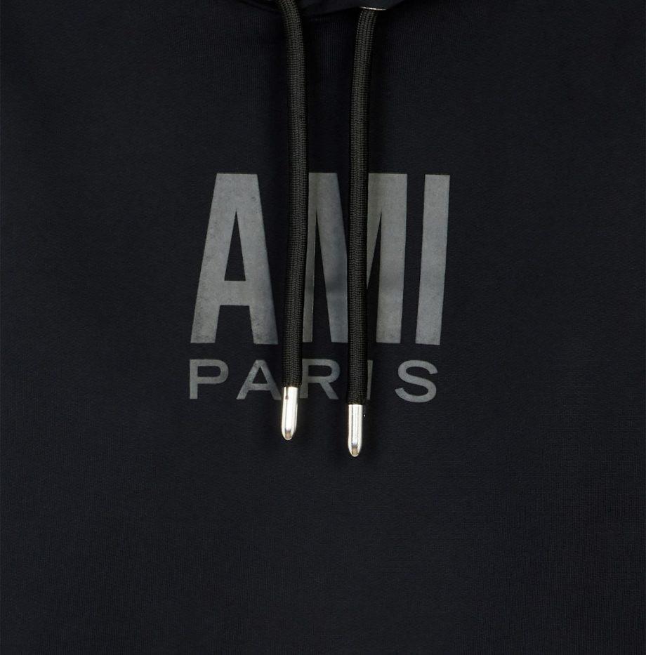 Hoodie_Plastisol_Ami_Paris_Black_2