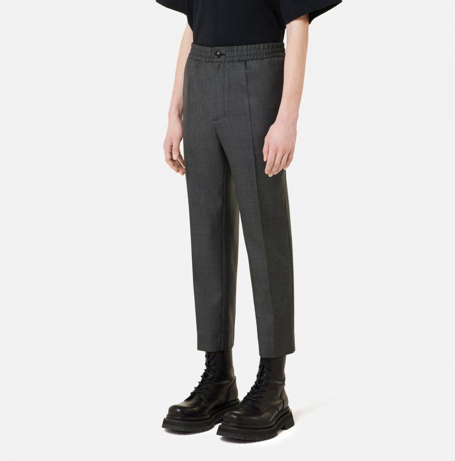 Pantalon_Cropped_Taille_Elastique_Ami_Pied_de_Poule_Gris_:_Noir_3