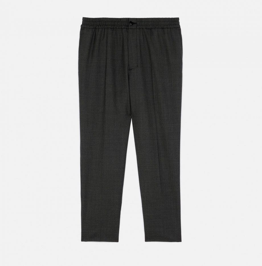 Pantalon_Cropped_Taille_Elastique_Ami_Pied_de_Poule_Gris_:_Noir_5