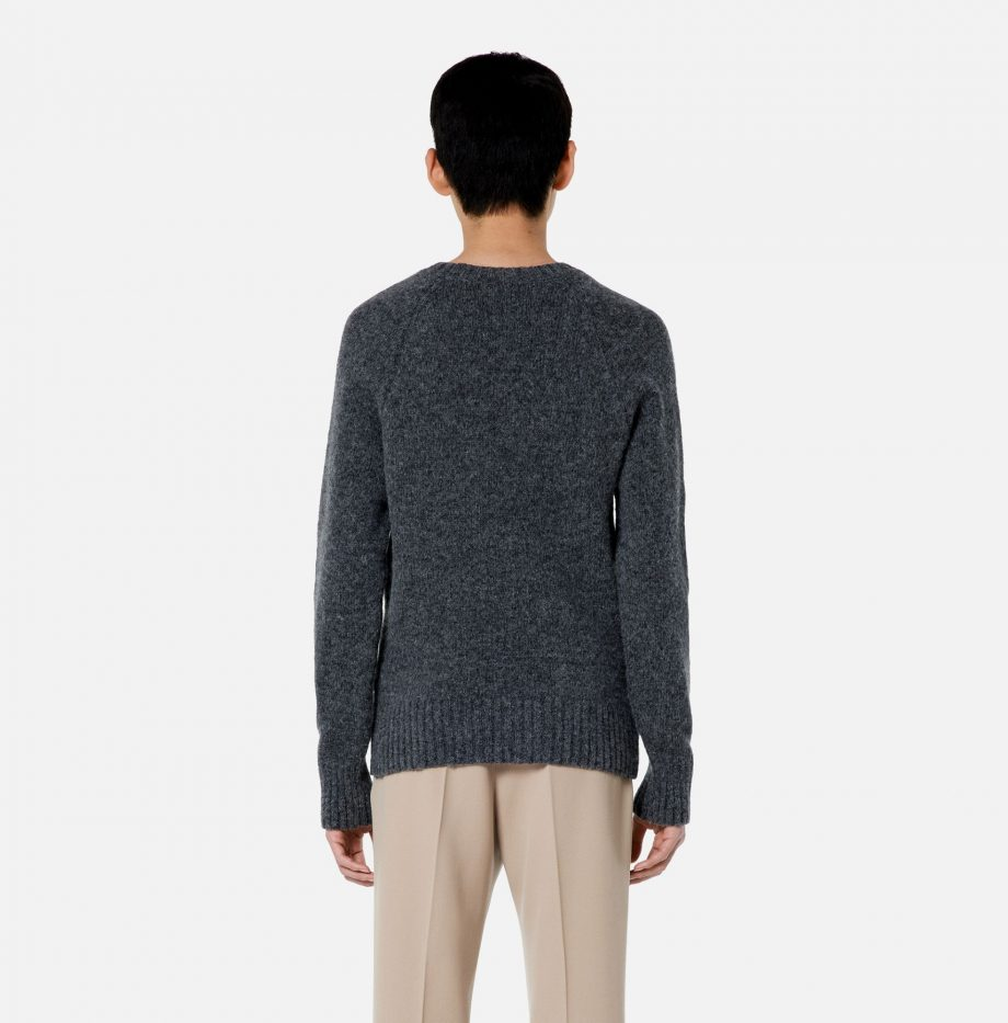 Pull_Col_Rond_Ami_Gris_Chiné