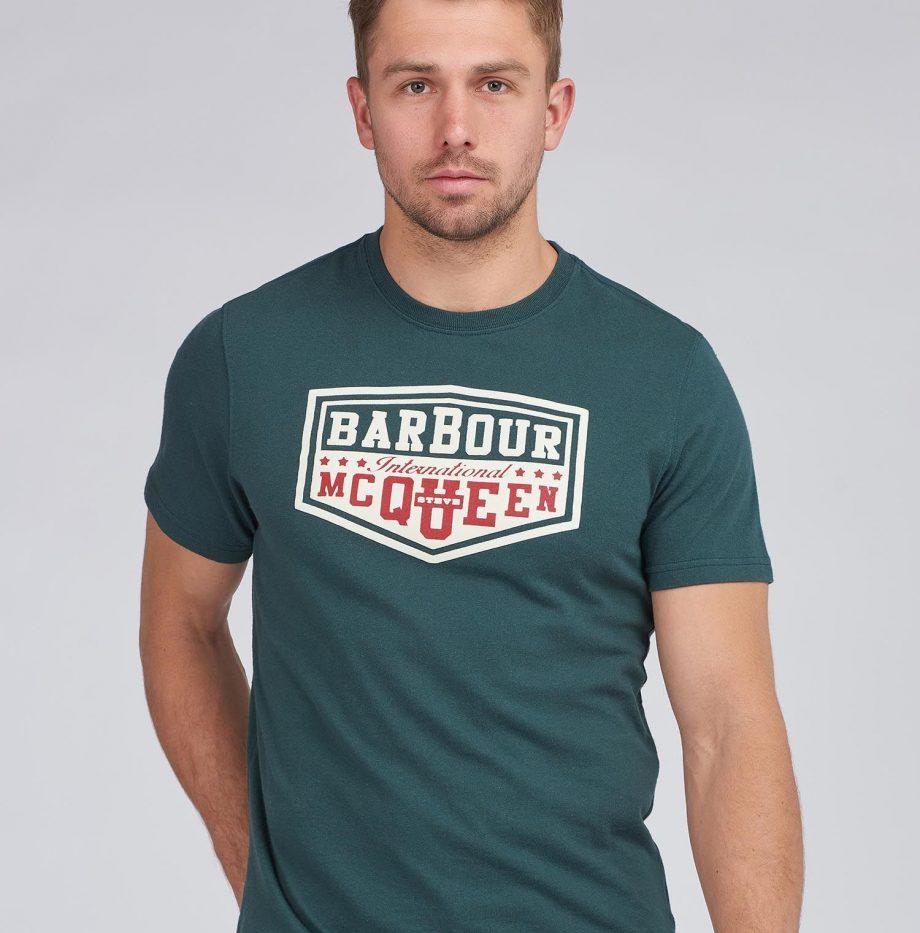 Tee-Shirt_Torx_STEVE_MCQUEEN™_Barbour_Deep_Green