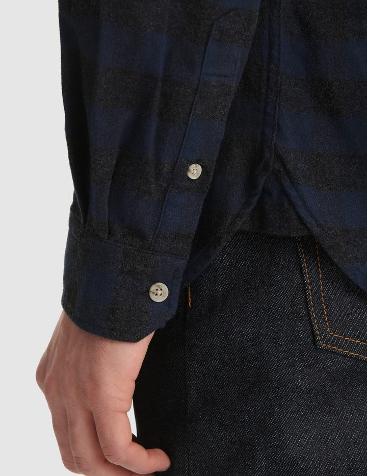 Traditional_Flannel_Chemise_WoolRich_Blue_Buffalo_5