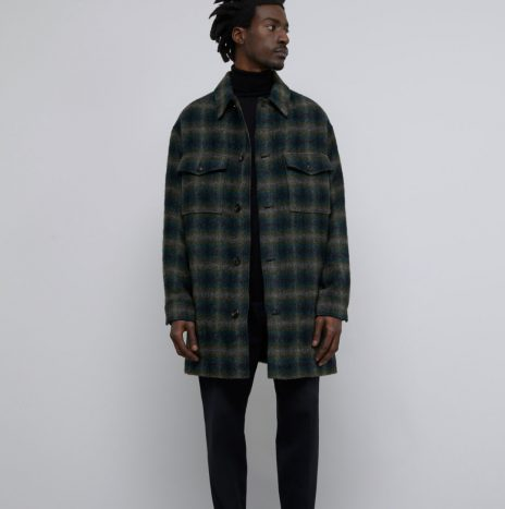 Sur-Chemise Checked Closed Fir Green